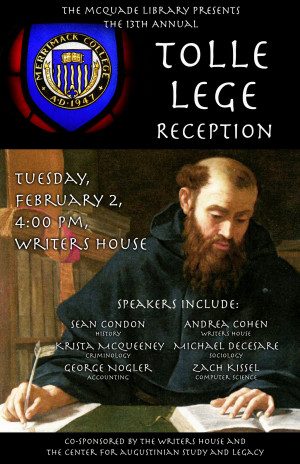13th Annual Tolle Lege  Reception Tues Feb 2 at 4pm at the Writers House