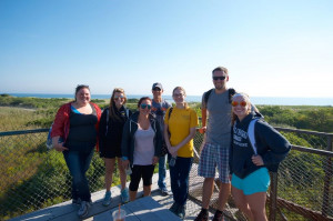 Group from ENG 4102, The New England Shore Seminar, visited the Parker River Wildlife Refuge at Plum Island, Massachusetts.