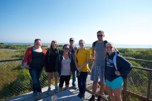 Group from ENG 4102, The New England Shore Seminar, visited the Parker River Wildlife Refuge at P...