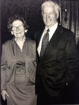 Professor James J. St. Germain and his wife Frances Steffy St. Germain