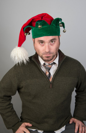Bobby Ringuette as Crumpet the Elf in The Santaland Diaries, by David Sedaris