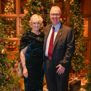 President Christopher E. Hopey, Ph.D. and his wife, Cheryl Lucas
