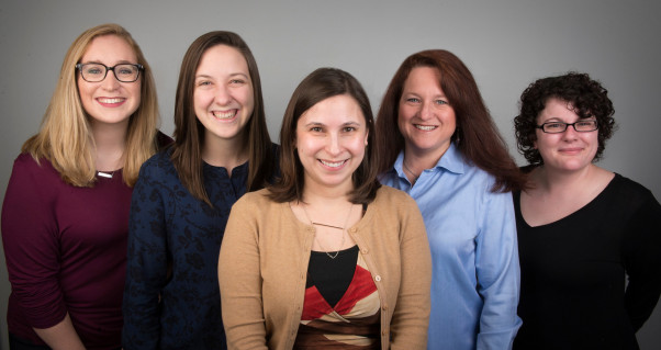 The Accessibility Services Staff, from left to right: Ashley Callis,Graduate Office Advisor; Mori...