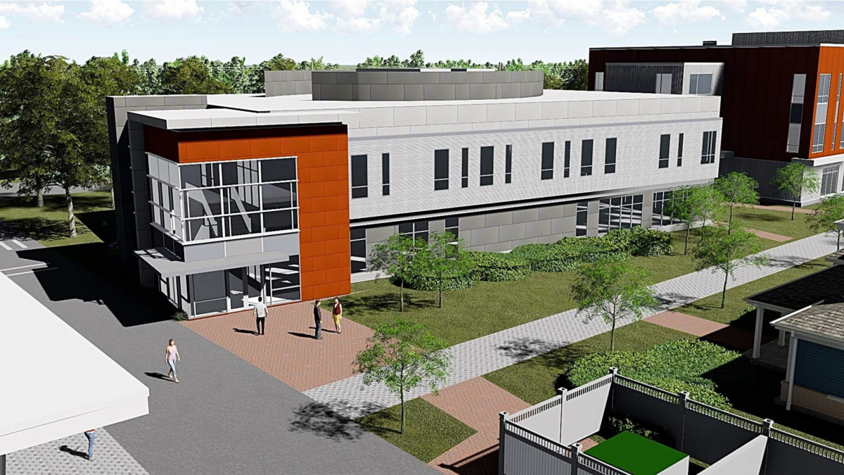 Building C will be situated between Crowe Hall to the north and the Sakowich Campus Center to the...