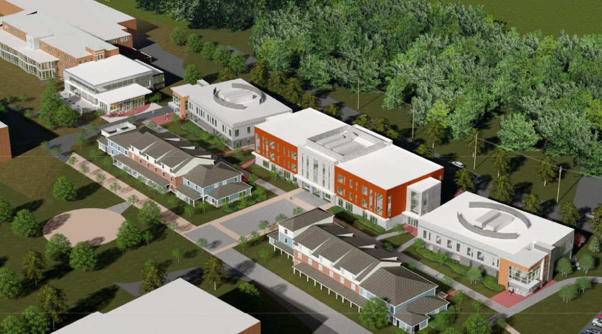Architect's rendering of new North Campus.