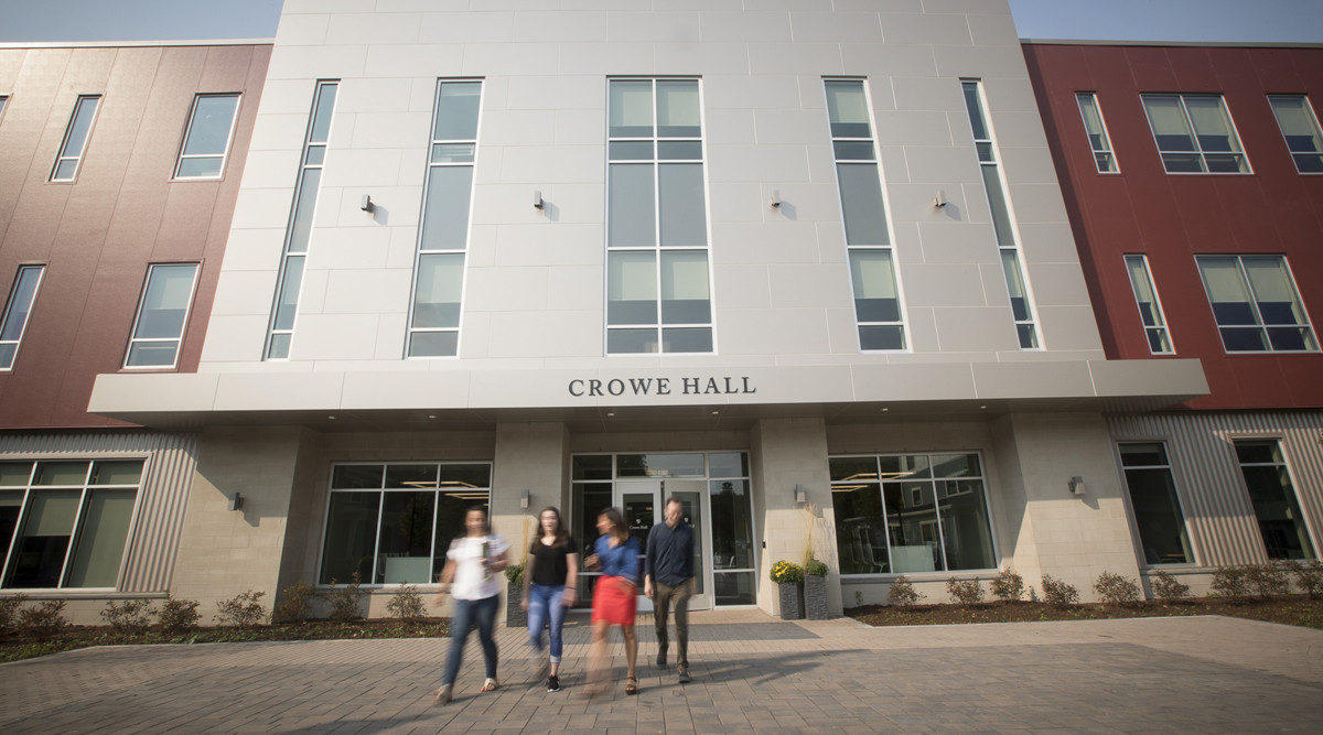 Exterior view of Crowe Hall.