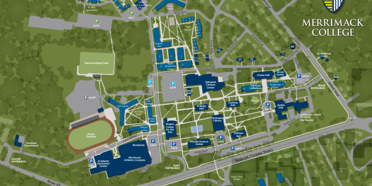 Walsh Campus Map.Map And Directions To Merrimack College Merrimack College