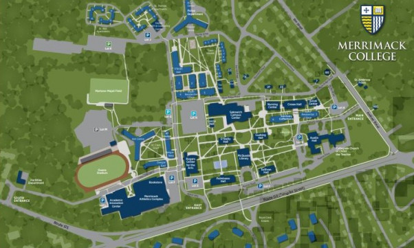 Merrimack College campus map