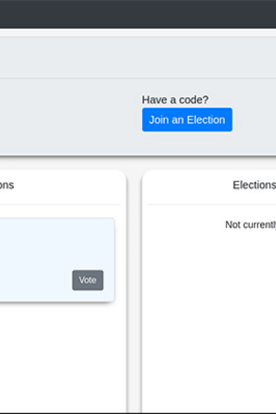 Screenshot of electronic voting student project.
