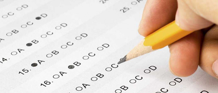 filling out standardized test form