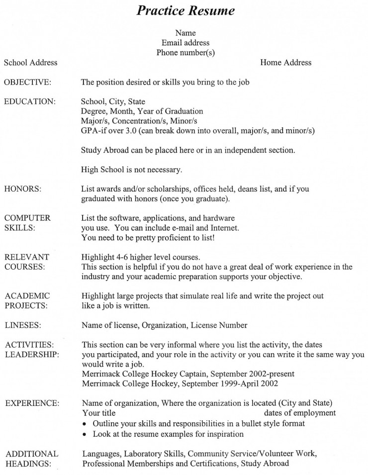 Undergraduate Resume Examples Resume Examples For College Students  Recentresumes Resume Example College Students Examples For With
