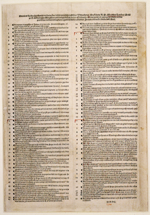 1517 Nuremberg printing of the Ninety-five Theses as a placard, now in the Berlin State Library.