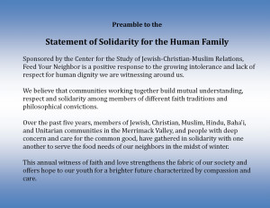 Preamble to the Statement of Solidarity