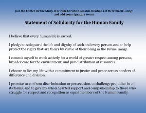 Statement of Solidarity for the Human Family