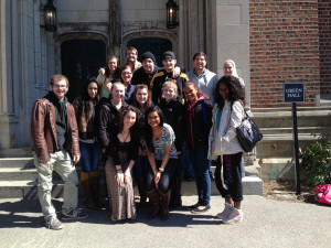 Prof. Celene Lizzio's class at Wellesley College interfaith conference
