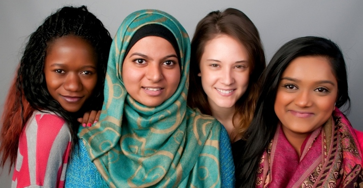 Leaders from Class of 2014 honored at Feast of Faiths: Anna, Iqra, Chelsea and Neha