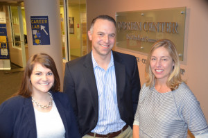 Samantha Medina, Stephen Maser and Wendy Hyatt of the O'Brien Center for Student Success