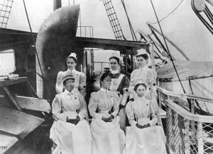 Red Cross nurses en route to Cuba in 1898.