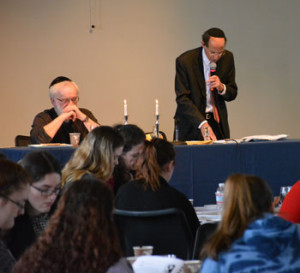 On Tuesday, Rabbi Robert Goldstein held the 18th annual model Seder for Merrimack College students to show them the roots of the Last Supper.