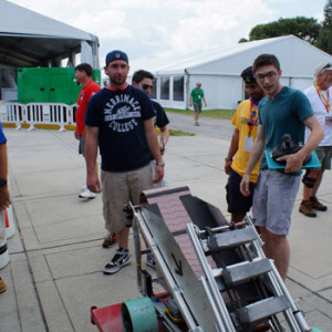 A team of Merrimack College students are competing in the Sixth Annual NASA Robotic Mining Competition in Florida this week. Its robot must pick up 22 pounds of regolith in 10 minutes in a simulated Mars terrain.