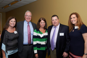 Carolyn Digiammo, Dr. Christopher E. Hopey, Marybeth McInnis of the O'Brien Foundation, Christopher Riley '93 and Jennifer Riley '93.