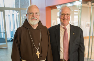 Cardinal Seán O'Malley with President Christopher E. Hopey, Ph.d.