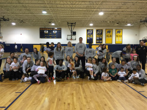 Merrimack student volunteers and participants enjoyed a Young Athletes support program Special Olympics-type event