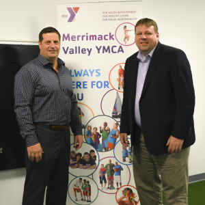 Health Sciences Department Associate Dean Kyle McInnis (left) is partnering with the Merrimack Valley YMCA and Chief Operating Officer Francis J. Kenneally III to expand the innovative Active Science program.
