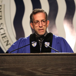 Kenneth Cole delivers keynote address at Merrimack College's 67th undergraduate commencement.