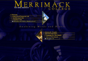 The Merrimack homepage, 2000.