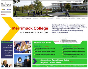 The Merrimack homepage, 2005.