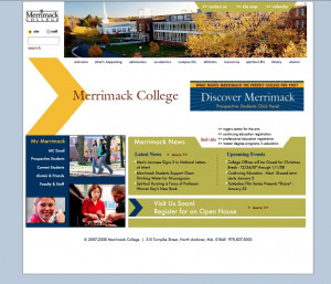 The Merrimack homepage, 2007.