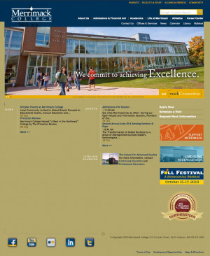 The Merrimack homepage, 2010.