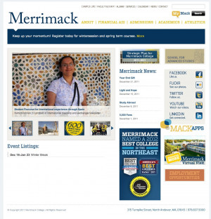 The Merrimack homepage, 2011.