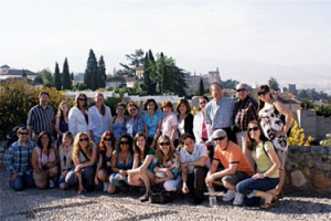 Crossing Borders in 2009 in front of the Alhambra in Granada, Spain