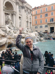 Sarah Wooley '14 enjoying Italy