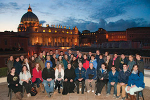 The 2013 Pellegrinaggio group in Rome, Italy