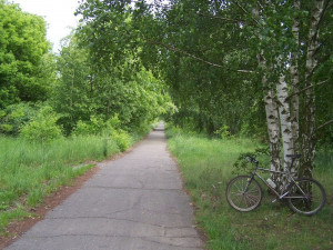 "The ""Berliner Mauerweg"" bike path brings a mixture of pleasure and pain to runners like Dr. Warren Kay."