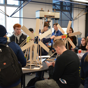 Dozens of Merrimack students participated in this year's annual windmill design competition ...