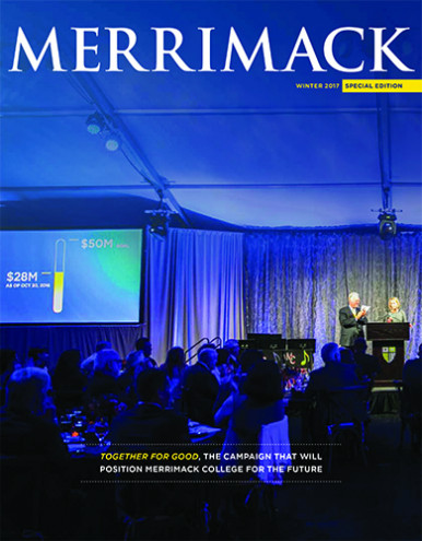 Merrimack Magazine Winter 2017 Cover