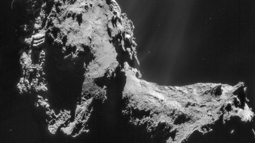 """The ultimate in Robotic Mining"" @NASARMC, photo of target comic taken by Rosetta space..."