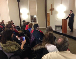 Greg Lingley talked about what's dearest to his heart during the sixth annual First Lecture Feb...