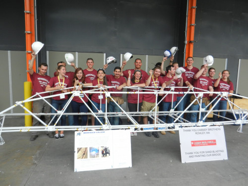 Merrimack's team at the National Student Steel Bridge Competition at the University of Missouri...