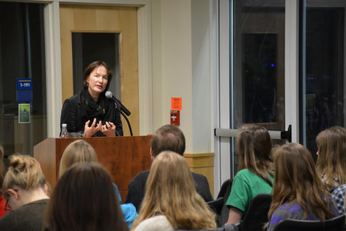 Author Alice Sebold held a question and answer period following a book reading at The Writers Hou...