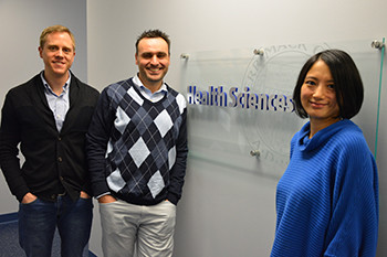 Merrimack Health Sciences Department assistant professor Zi Yan (right) led a study, funded by th...