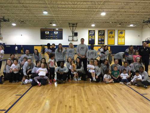 Merrimack student volunteers and participants enjoyed a Young Athletes support program Special Ol...