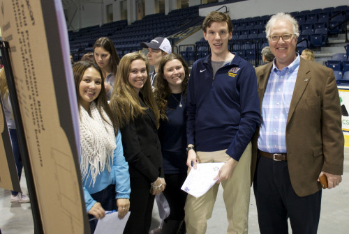 The first Merrimack College Research and Creative Achievement Conference May 5 included 400 prese...