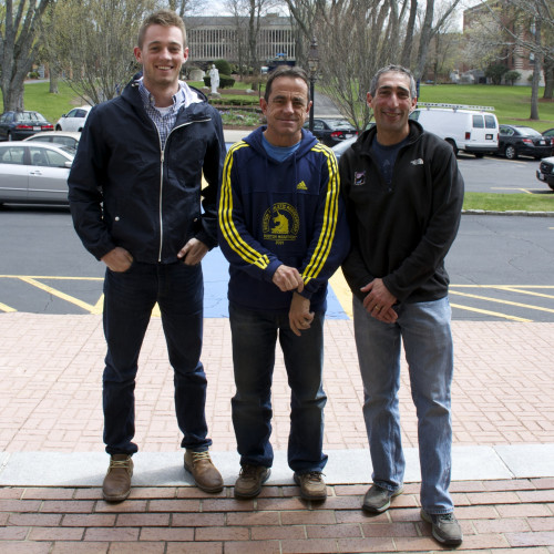 (left to right) : John Flaherty '16, Dave McGillivray, and Josh Nemzer