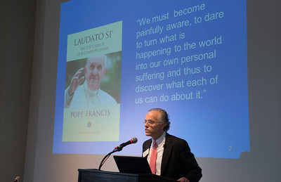 "Merrimack College organized and hosted the April 10 conference ""Religion, Science and Ecolo..."
