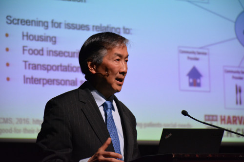 Dr. Howard Koh was a featured speaker at Lawrence General Hospital's sixth annual Healthcar...